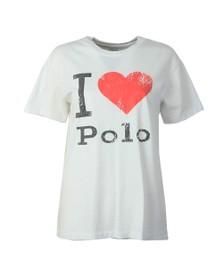 Polo Ralph Lauren Womens White I Love Polo T-Shirt
