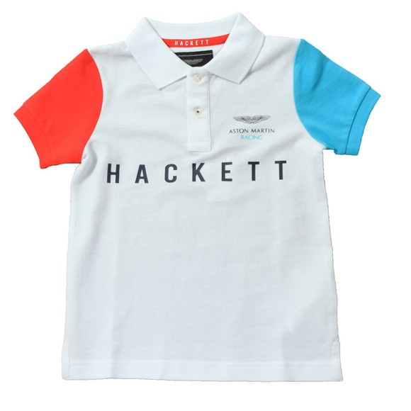 Hackett Boys White Aston Martin Polo main image