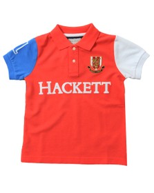 Hackett Boys Red Multi Polo Shirt