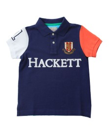 Hackett Boys Blue Multi Polo Shirt