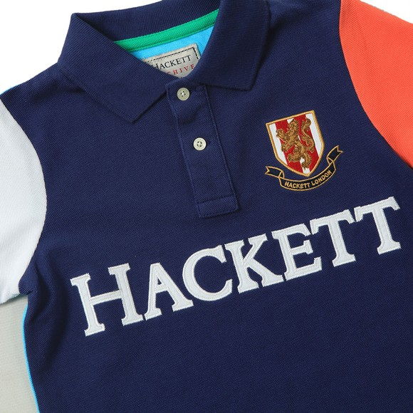 Hackett Boys Blue Multi Polo Shirt main image