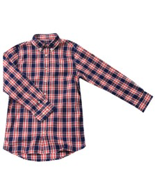 Gant Boys Red Cardinal Red Check  Shirt