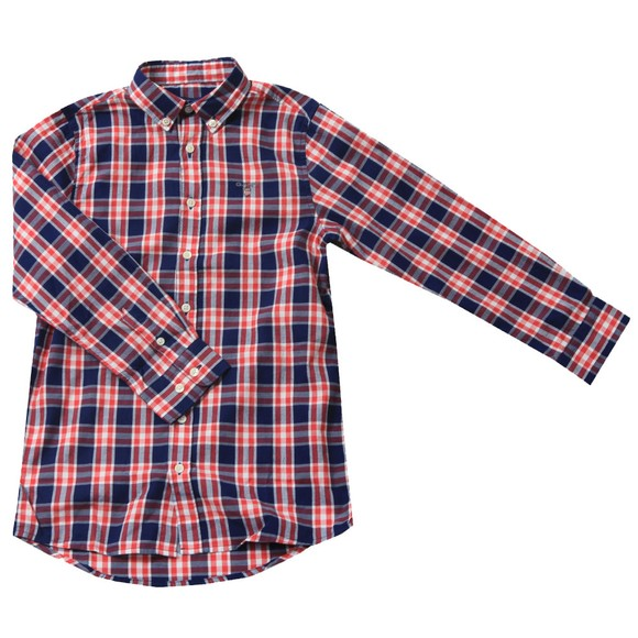 Gant Boys Red Cardinal Red Check  Shirt main image