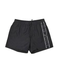 Emporio Armani Mens Black Tape Logo Swim Short