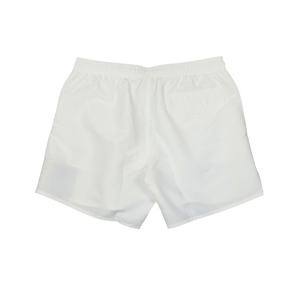 Emporio Armani Mens White Tape Logo Swim Short