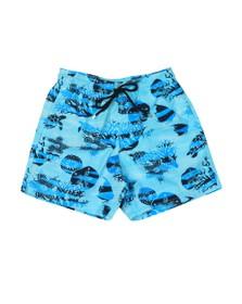 Vilebrequin Mens Blue Ocean Currents Swim Short