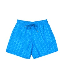 Vilebrequin Mens Blue Micro Turtles Swim Short