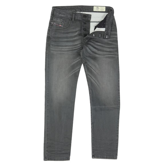 Diesel Mens Grey Bazer Tapered Jean