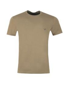 Emporio Armani Mens Green Stretch Crew Neck T Shirt