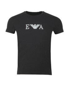 Emporio Armani Mens Black Chest Logo Stretch T Shirt