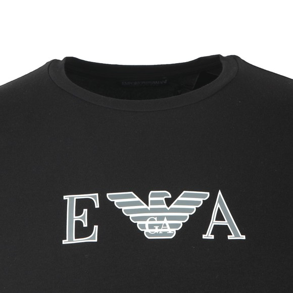 Emporio Armani Mens Black Chest Logo Stretch T Shirt main image