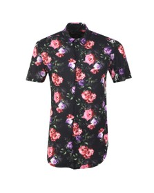 Sik Silk Mens Black S/S Paint Resort shirt