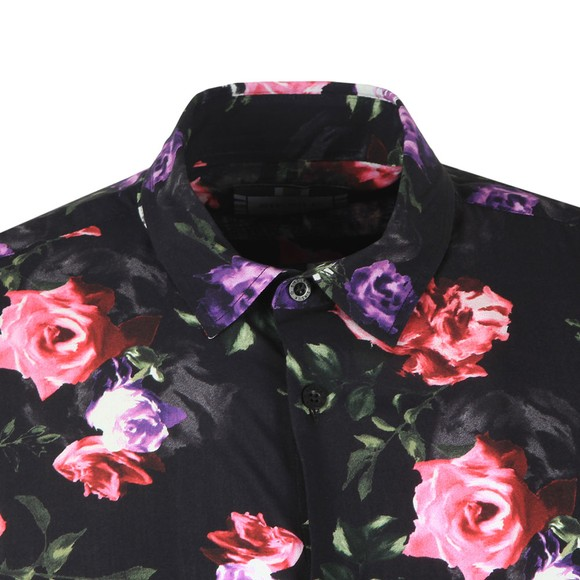 Sik Silk Mens Black S/S Paint Resort shirt main image