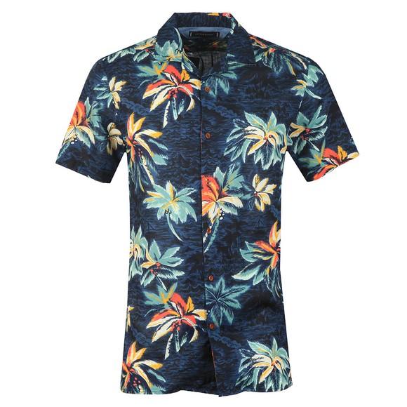 Tommy Hilfiger Mens Blue S/S Hawaiian Shirt main image