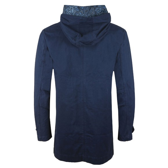 Pretty Green Mens Blue Cassidy Cotton Zip Up Hooded Parka main image