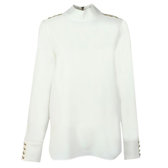 Holland Cooper Womens White High Neck Shirt main image