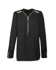 Holland Cooper Womens Black Zip Buttoned Shirt
