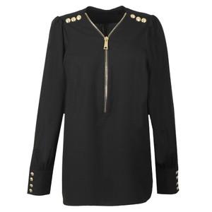 Zip Buttoned Shirt