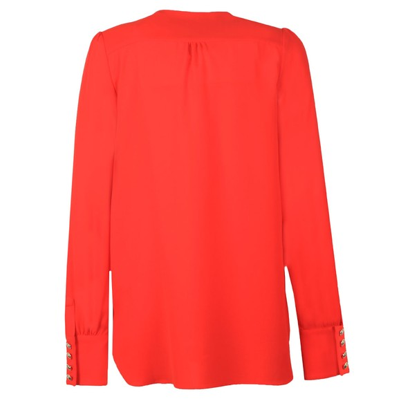Holland Cooper Womens Red Zip Buttoned Shirt main image