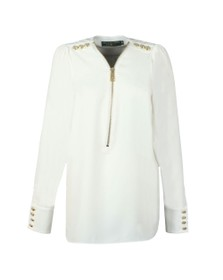 Holland Cooper Womens White Zip Buttoned Shirt