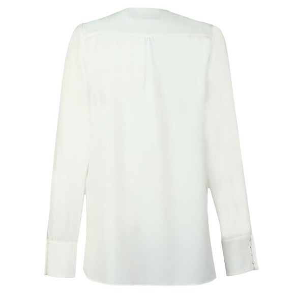 Holland Cooper Womens White Zip Buttoned Shirt main image
