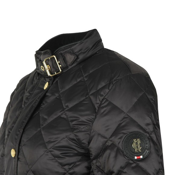 Holland Cooper Womens Black Heritage Quilted Jacket main image