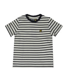 Lyle And Scott Junior Boys Blue Variegated Stripe T Shirt