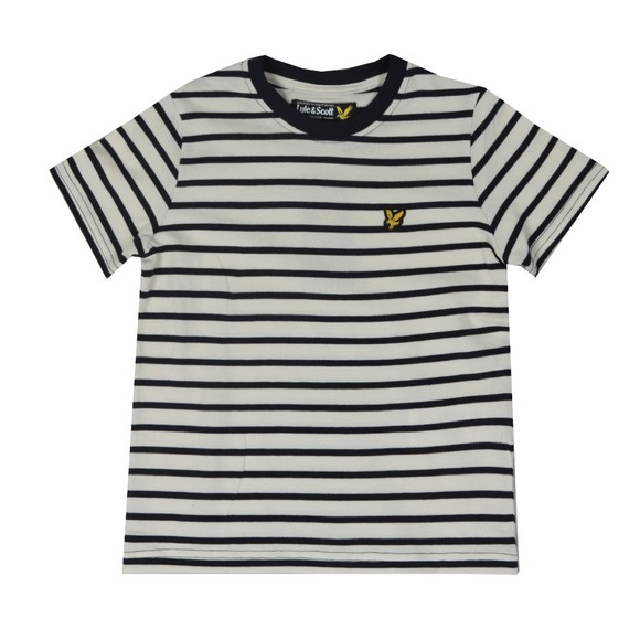 Lyle And Scott Junior Boys Blue Variegated Stripe T Shirt main image