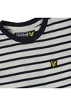 Lyle And Scott Junior Boys Blue Variegated Stripe T Shirt