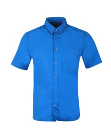 HUGO Mens Blue Relaxed Fit Short Sleeve Shirt