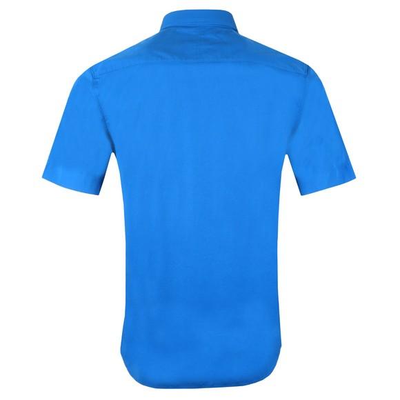HUGO Mens Blue Relaxed Fit Short Sleeve Shirt main image