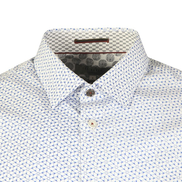 Ted Baker Mens Blue S/S Rectangle Geo Shirt main image