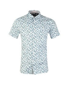 Ted Baker Mens Blue Novelty Print Shirt