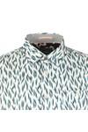 Ted Baker Mens Blue Novelty Print Shirt