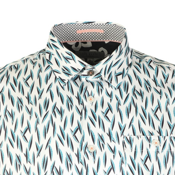 Ted Baker Mens Blue Novelty Print Shirt main image