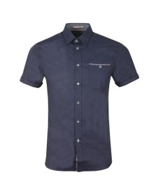 Ted Baker Mens Blue S/S Oxford Shirt