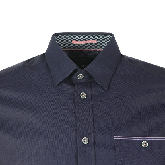 Ted Baker Mens Blue S/S Oxford Shirt main image