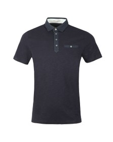 Ted Baker Mens Blue Geo Collar Polo