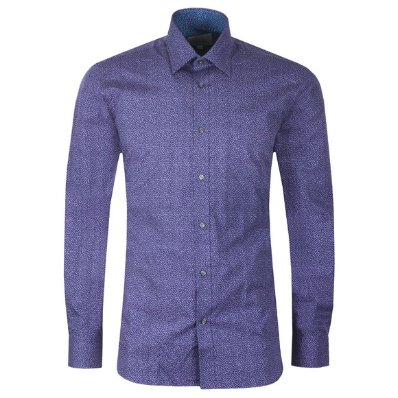 Ted Baker Mens Purple Spot Print Shirt main image