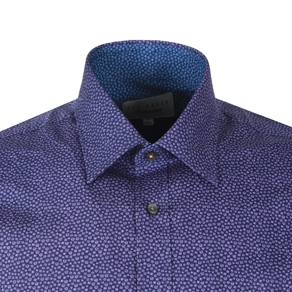 Ted Baker Mens Purple Spot Print Shirt