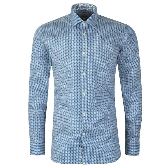 Ted Baker Mens Blue Painted Geo Shirt