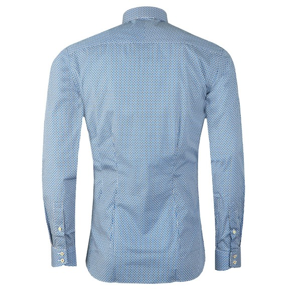 Ted Baker Mens Blue Painted Geo Shirt main image