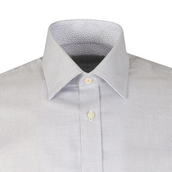 Ted Baker Mens Purple Mini Check Shirt
