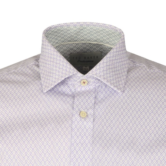 Ted Baker Mens Purple Diamond Geo Shirt