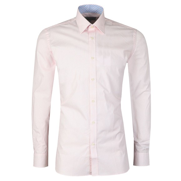 Ted Baker Mens Pink Spot Square Shirt main image