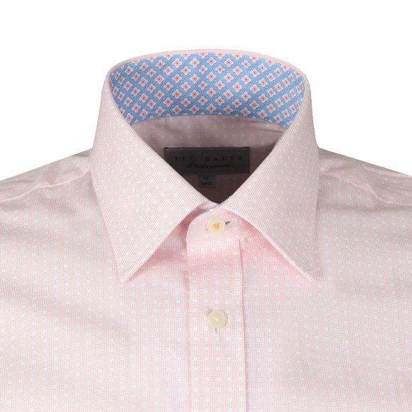 Ted Baker Mens Pink Spot Square Shirt