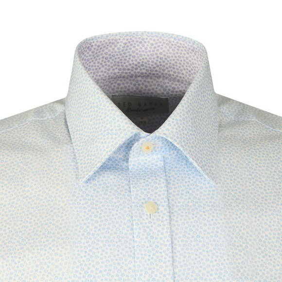 Ted Baker Mens Blue Spot Print Shirt
