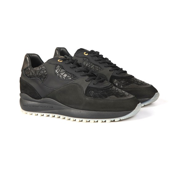Android Homme Mens Black Santa Monica Rubber Mosaic Trainer main image