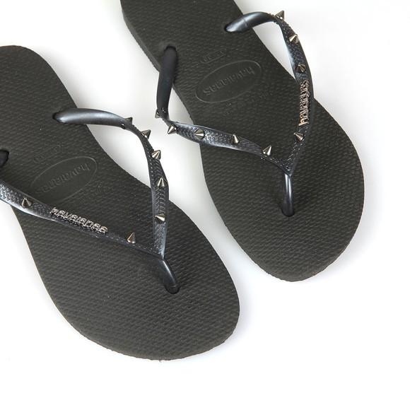 Havaianas Womens Black Slim Hardware Flip Flop main image