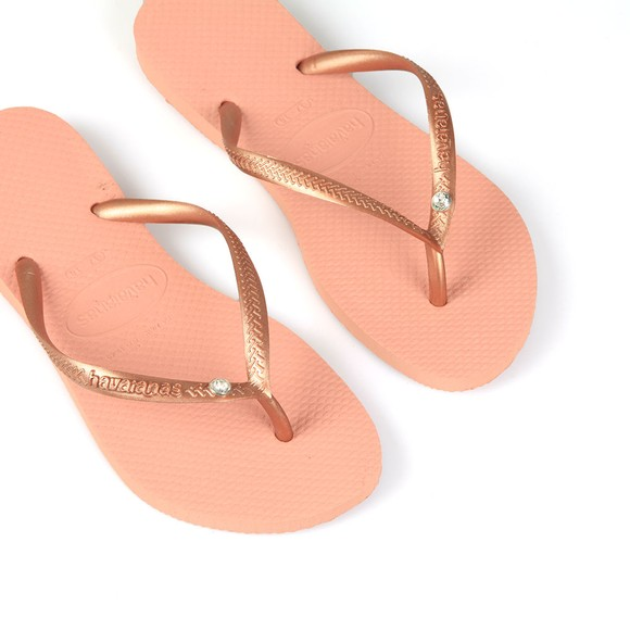 Havaianas Womens Pink Slim Crystal Glamour Flip Flop main image